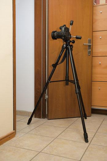 Immobilienfoto: Kamera ist außerhalb des Raums positioniert.