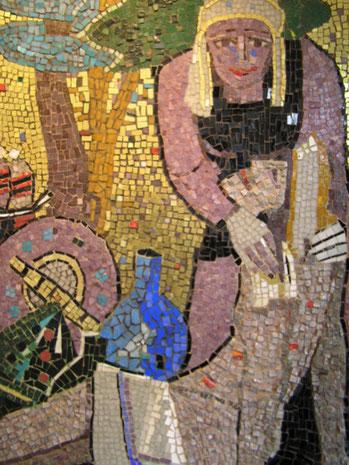 Barmherzige Samaritan – Mosaik, Ausschnitt