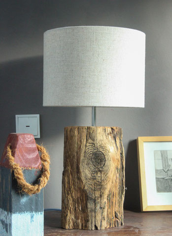Treibholz Lampe