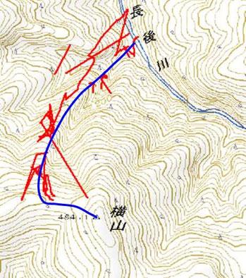 GPSログがかなり飛んでいるのはヒバ林のせいか