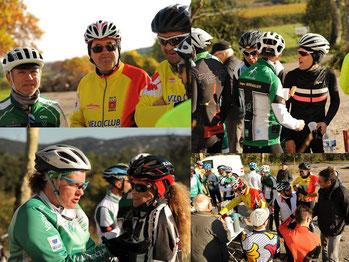Grand moment de convivialité lors de la sortie commune avec le vélo-club de Grabels
