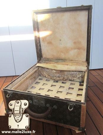Restauration de valise a chapeau ancienne louis Vuitton trunk paris 1930 très rare collection collector restoration