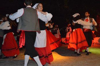 Tarantela-Gruppe in Ostuni