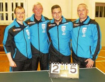 MSV 1  -  v.l.: Norman Schusser, Peter Schliwa, Mario Böttger und Maik Fröhlich