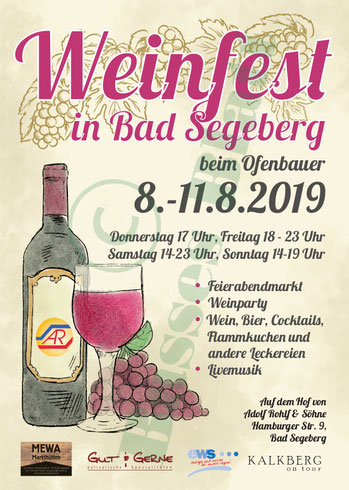 Flyer Weinfest beim Ofenbauer