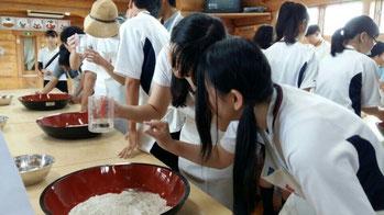 일본학생들과 소 만들기