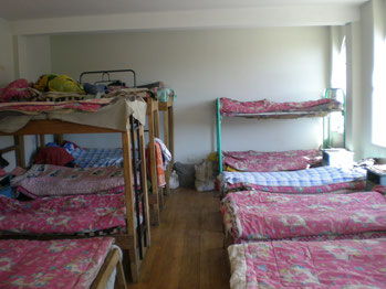 Schlafraum im neuen Heim