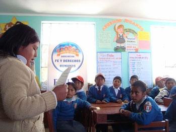 FEDERH bei der Arbeit mit Schülern