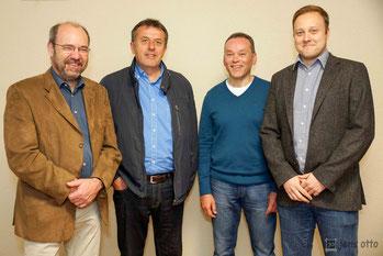 v.l. Willy Rommelspacher, Lothar Luzius, Bernhard Mankel, Dennis Gorski