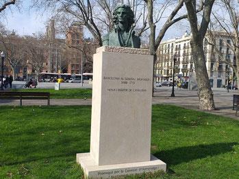 Генерал Жозеп Морагес - памятники и скульптуры Барселоны