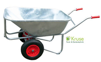 Großmuldenkarre, Zweiradkarre, verschweißt und feuerverzinkt, robuste Hofkarre von Kruse Gartentechnik in 32469 Petershagen