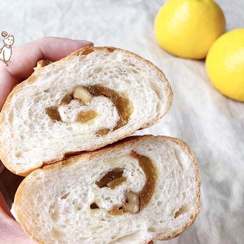 小夏ピールとくるみのロールパン