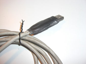 USB-Modul fertig verklebt.
