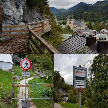Salinenweg Berchtesgaden gesperrt
