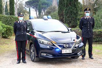 L'administration italienne vient d'acquérir 52 berlines 100% électriques Nissan LEAF, pour la flotte des Carabiniers.