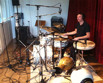 At the recording studio in Cologne with the Henning Wolter Trio