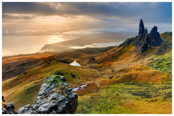 Isle of Skye. Old Man of Stor