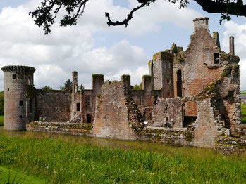 Caerlaverock Castle in der Region Dumfries und Galloway