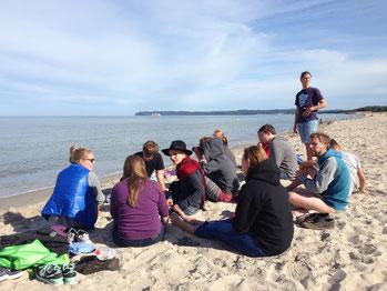 Unser Strand vor der Jugendherberge