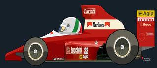 Andrea de Cesaris by Muneta & Cerracín - Dallara 190 de Andrea de Cesaris