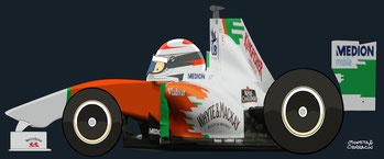 Adrian Sutil by Muneta & Cerracín - Force-India-VJM04 de 2011