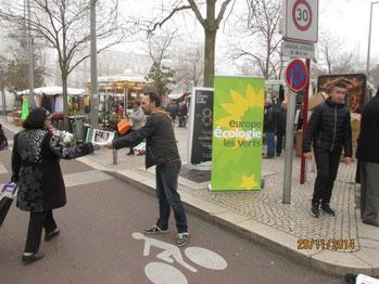 """Samedi 29 novembre 2014 : opération """" vague verte """" à St-Chamond"""