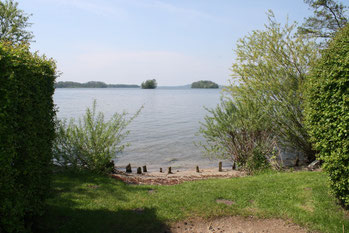 Großer Plöner See: Blick von der Prinzeninsel Richtung Sepel und Dersau