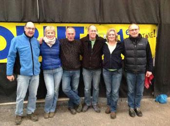 v.l.: Wolfgang, Rita, Rainer S., Alfred, Martina, Heino; es fehlt Iris (C)