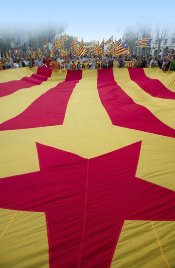 Bandera estelada catalana, símbolo del independentismo catalán.