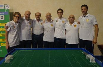 Il Messina Table Soccer della prima Serie B della storia