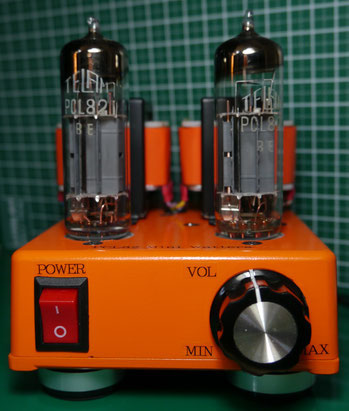 PCL82(16A8) DIY-Audio  Single-Ended DC-DC Stereo Tube Amplifier PCL82(16A8)3結シングルアンプ自作