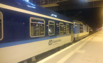 Nachtzug Zürich - Prag in Leipzig Hbf
