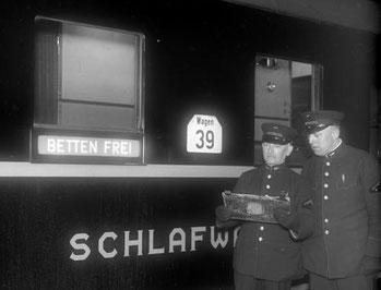 Schlafwagen 1932 (Quelle: Deutsches Bundesarchiv)