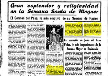 Descripción del antiguo cortejo santo entierro de Moguer hasta 1914