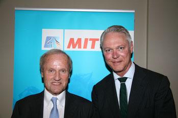Peter Luths (r.) begrüßte als besonderen Gast der MIT Lüneburg den Ehrenpräsidenten der Bundesvereinigung der deutschen Ernährungsindustrie, Jürgen Abraham (Foto: MIT/Max Manzke)