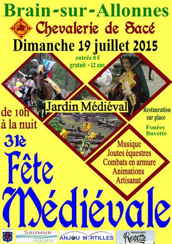 Projet d'affiche pour la fête médiévale