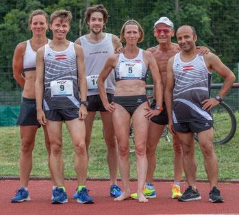 von links nach rechts: Tanja Stroschneider, Matthias Kaplan, Clemens Winter, Elisabeth Pöltner-Holkovic, Gerald Holkovic und Ücler Yilmaz