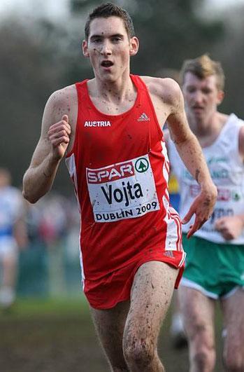 Andreas Vojta bei seiner ersten Crosslauf EM 2009 in Dublin (damals U 23)