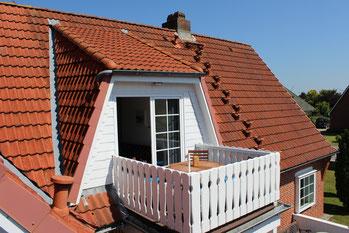 Ferienwohnung Scholle Balkon