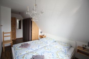 Ferienwohnung Scholle Schlafzimmer