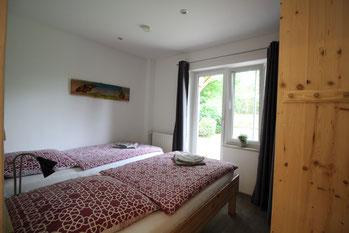 Ferienwohnung Muschel Schlafzimmer