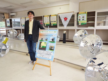 EOL代表が原作を務めた「やまねのナノのぼうけん」がテーマとなった展示