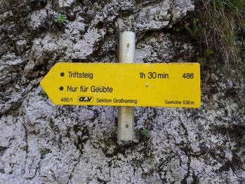 Einstieg zum Triftsteig im Reichraminger Hintergebirge