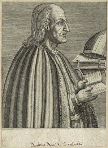 Incisione della prima metà del XVI secolo raffigurante Anselmo D'Aosta