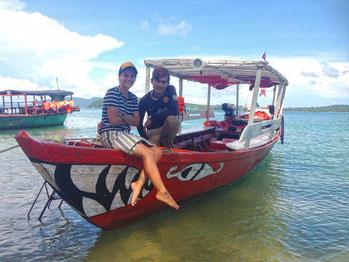 Boat trip koh ta kiev island from Sihanoukville