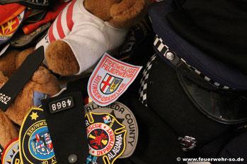 Ärmelabzeichen der Feuerwehr Seitingen-Oberflacht im 9/11 Memorial in der St. Paul's Chapel