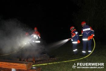 Brandbekämpfung durch die JFW