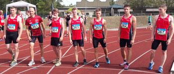 Sieben auf einen Streich: Vor dem 1500 Meter-Lauf