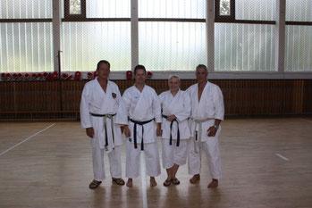 v. l.: Antonio Leuci, Carsten Zeifang, Friederike Zeifang, Antonio Dionisio auf Rügen 2011
