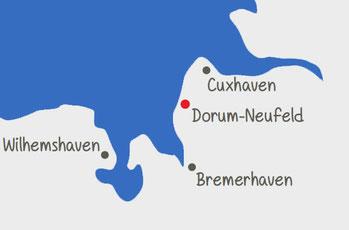 Lage Dorum-Neufeld